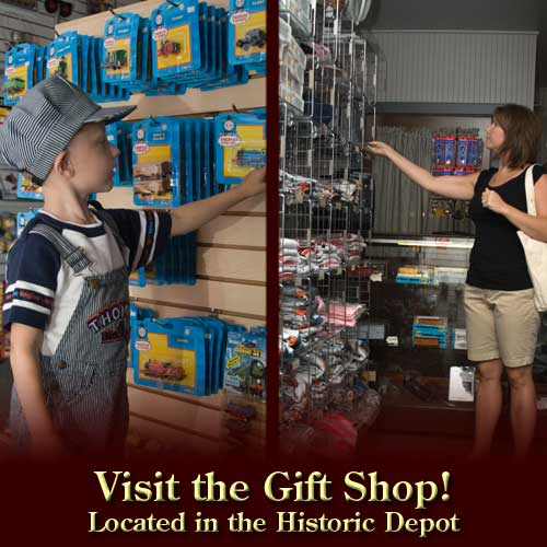 Visit the Gift Shop - located in the North Freedom depot