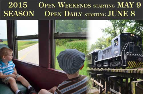 2015 Season begins weekends May 9th and dsaily starting June 8th